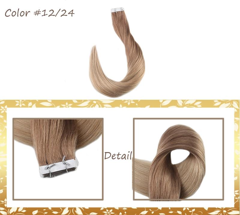 Blonde Pcs Remy Skin 13