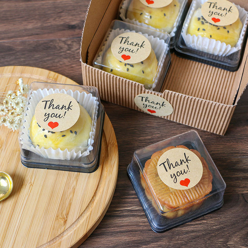 120pcs/10 Sheets Label Thankyou Round Sealing Stickers Kraft Paper Seal Stickers Cake Baking Gift Box Decorative Stickers