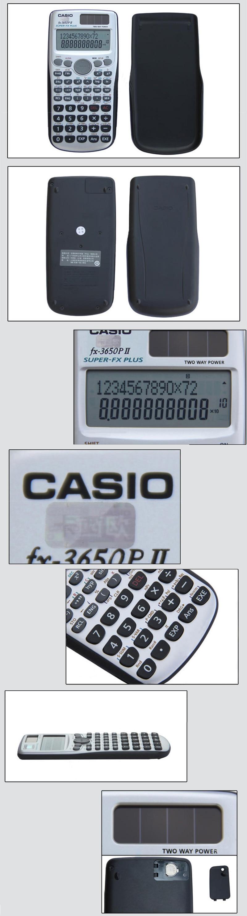Casio FX-3650PII Scientific Programming Calculator Professional Calculator  for Engineering Statistics