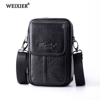 Men's Genuine Leather High Quality Multi Function Pockets High Quality Exquisite Mobile Phone Credit Card Storage Bag Waist Pack