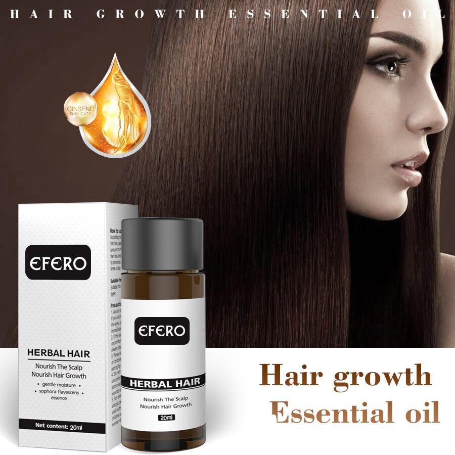 EFERO Hair Care Hair Growth Essence Essential Oils Prevent Hair Loss Products Growth Serum Damaged Hairs Treatment Repair 20ml