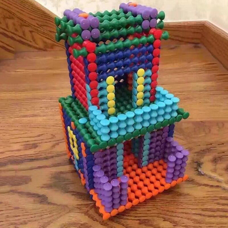 152 Stks Unisex Kids Model Bouwsteen Set Kind Educatief Speelgoed Diy Gemonteerd Kleur Cognitie Bamboe Vorm Sticks Bouw
