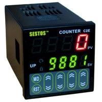 Sestos 디지털 프리셋 스케일 카운터 택트 스위치 레지스터 100-240 v ce c2s