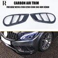 1 paar Carbon Fiber Front Bumper Air Vent Trim Abdeckung Für Benz W205 C205 C180 C200 C300 C43 mit AMG paket 4DR & 2DR 15 18-in Stoßstangen aus Kraftfahrzeuge und Motorräder bei