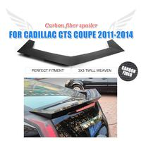 Carbon Fiber Rear Trunk Boot Spoiler Wing For Cadillac CTS Coupe 2 Door 2011 2014 Car Tuning Parts