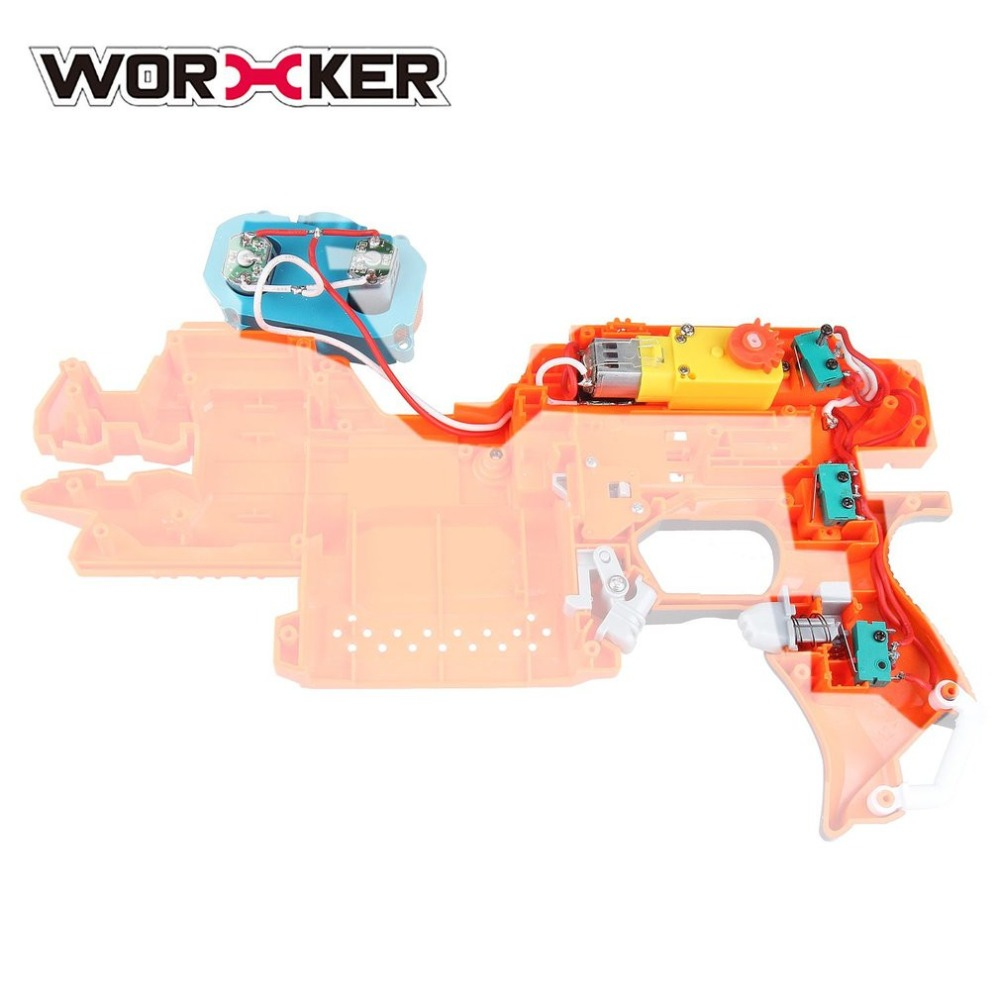 Hot! WORKER Fully Automatic Kit for Nerf Stryfe STF DIY Set Toy Gun Accessories Realize Single shot and Continuous Control Toys
