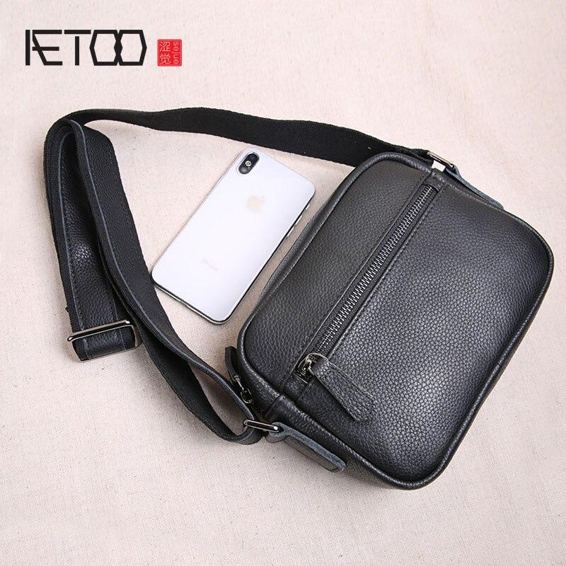 Bagaj ve Çantalar'ten Çapraz Çantalar'de AETOO Orijinal mini deri erkek çanta üst katman deri erkek küçük çanta rahat gençlik omuzdan askili çanta askılı çanta gelgit'da  Grup 1