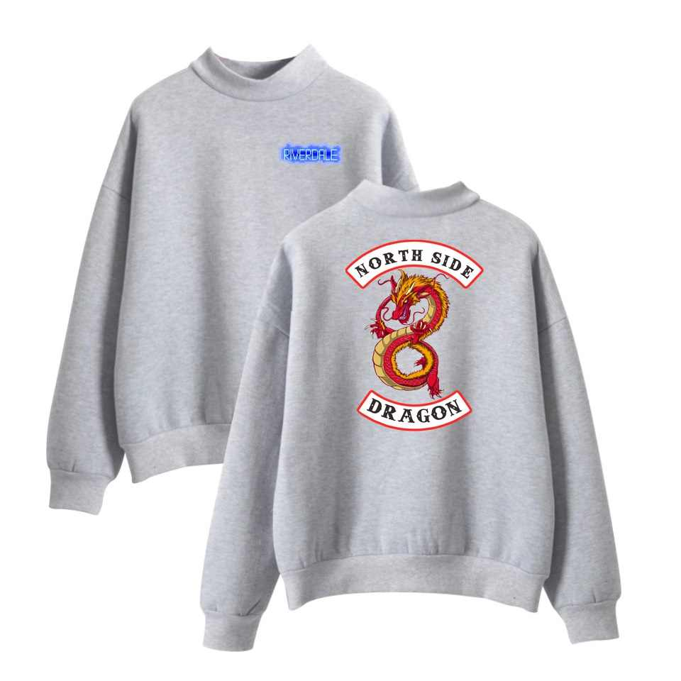 WEJNXIN Fashion American TV Riverdale Hoodies Women Fleece Sweatshirt Pullover Turtleneck South Side Sudaderas Mujer