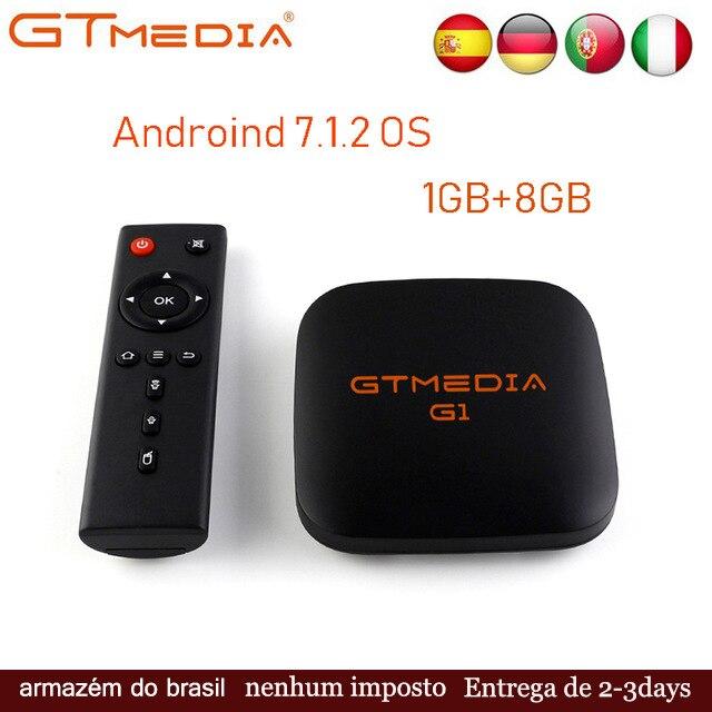 GTMEDIA G1 Android 7 1 2 OS Smart TV Box Amlogic S905W Quad Core Media Player Android TV Box 4K HD Support IPTV Set Top Box