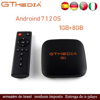 GTMEDIA G1 Android 7.1.2 OS Smart TV Box Amlogic S905W Quad Core Media Player Android TV Box 4K HD Support IPTV Set Top Box