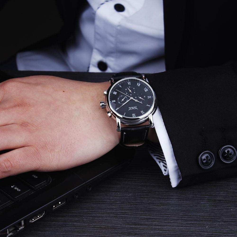 Nueva JARAGAR Moda Mecánica Automática Vestido de Hombre Relojes - Relojes para hombres - foto 6