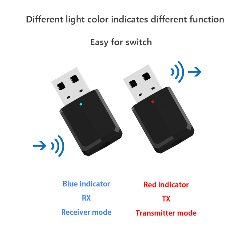 Image 2 - New bluetooth adapter wireless transmitter receiver 2 in 1 3.5mm Aux PC TV car stereo headphone audio doc player adaptor LYJF-in USB Bluetooth Adapters/Dongles from Computer & Office