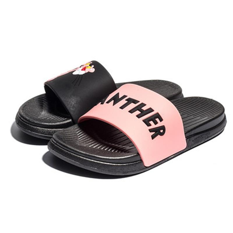 Lovely Pink Leopard Women Slippers slaps Summer slippers slides women shoes flip flops Non-slip Beach pantufa zapatos de mujer цены онлайн