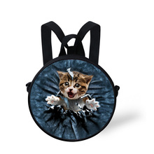 2016 Cute Baby Kids Kindergarten Bookbags Girls Animal Cat D