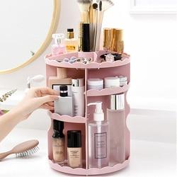 Cosmetics Rack Bathroom Organizer Rack 360 Rotating Adjustable Makeup Organizer Shelf Storage Box for Cosmetics Brushes Tabletop