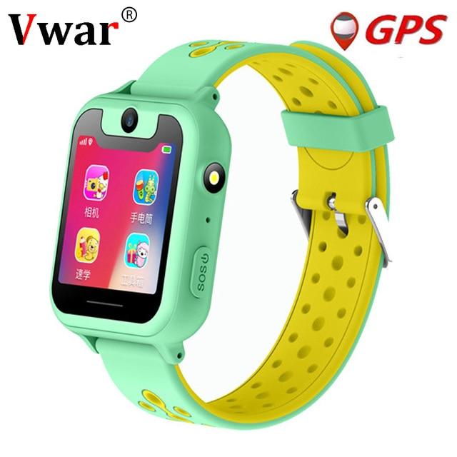 Vwar S90 Children GPS Smart Watch Kids Camera Lighting SmartWatch Baby Watch Sim Card SOS GPS Tracker Child Phone VS Q750 Q360