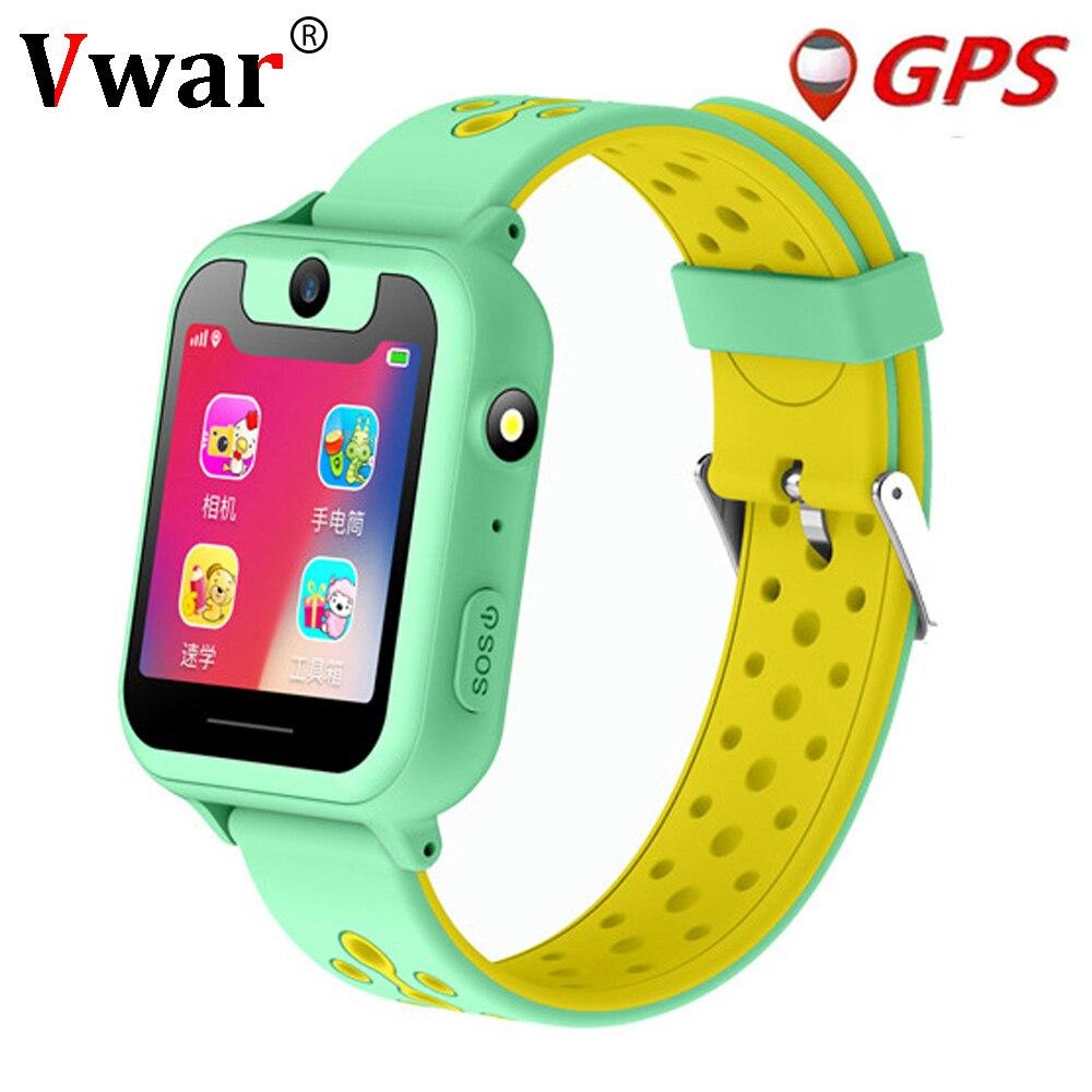 Vwar S90 Enfants GPS Montre Smart Watch Enfants Caméra Éclairage SmartWatch Bébé Montre Carte Sim SOS GPS Tracker Enfant Téléphone VS q750 Q360