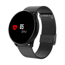 M9 Smartwatch Bluetooth Waterproof Sport Bracelet Blood Pressure Metal Silicone Strap Color Screen Fitness Tracker Message Push
