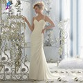 Fashion Woman Ivory Chiffon Prom Dresses Long Party Evening Dress Crystal Sweetheart Pleats Buttons Back Court Train