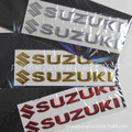 Sinal para Suzuki motocicleta Automotivo decorativo applique macio 3D tridimensional carro de personalidade adesivos refletivos