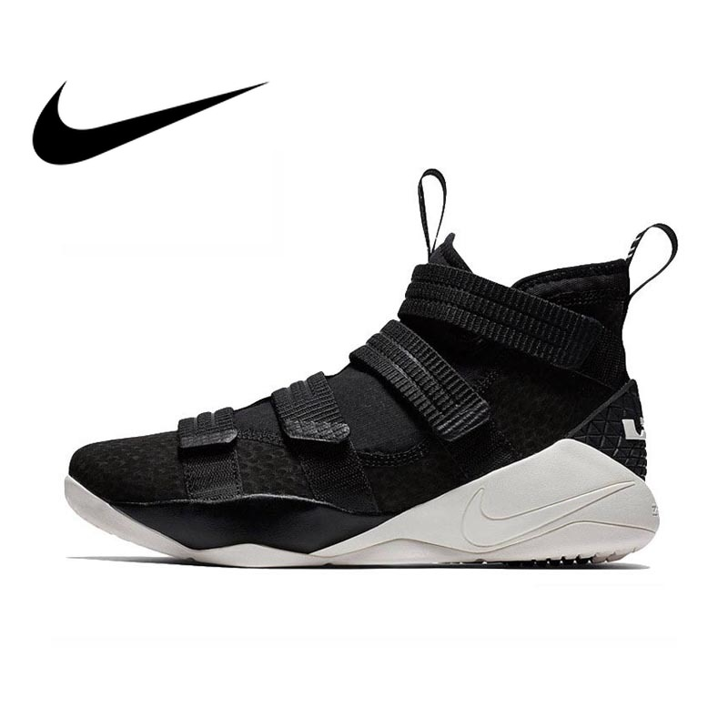 5cebff793b75 Original Authentic Nike LEBRON SOLDIER 11mens Basketball Shoes Sneakers  Medium Cut Sports outdoor Comfortable Breathable 897645