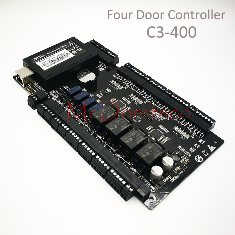 Free Shipping ZK C3-400 Access Control Panel Security Four door Access Controller Tcp/Ip IP-based Door Access Control System цена