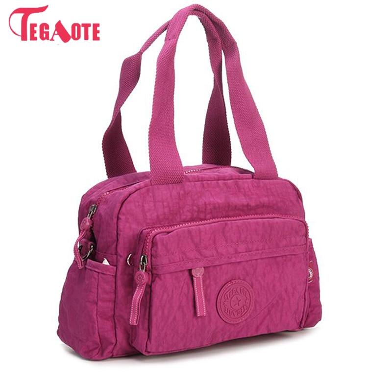 TEGAOTE 2017 Original Women Nylon Waterproof Handbag Multifunction Zipper Shoulder Bag Tote Messenger Bag 953