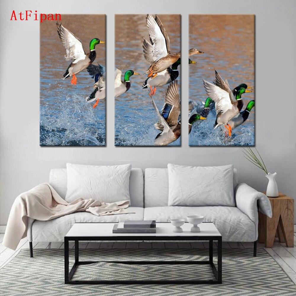 atfipan lienzo pintura abstracta arte de la pared poster pjaro animal modular de pared cuadros para