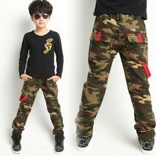 New 2016 Autumn winter Teens Jeans For Boy Camouflage Baby Boys Jeans Pants Kids Jean Children's Denim Long Pant Cotton trousers