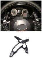 1 Pair Carbon Fiber Steering Wheel DSG Paddle Shifters Extensions Trim For Subaru XV Impreza BRZ