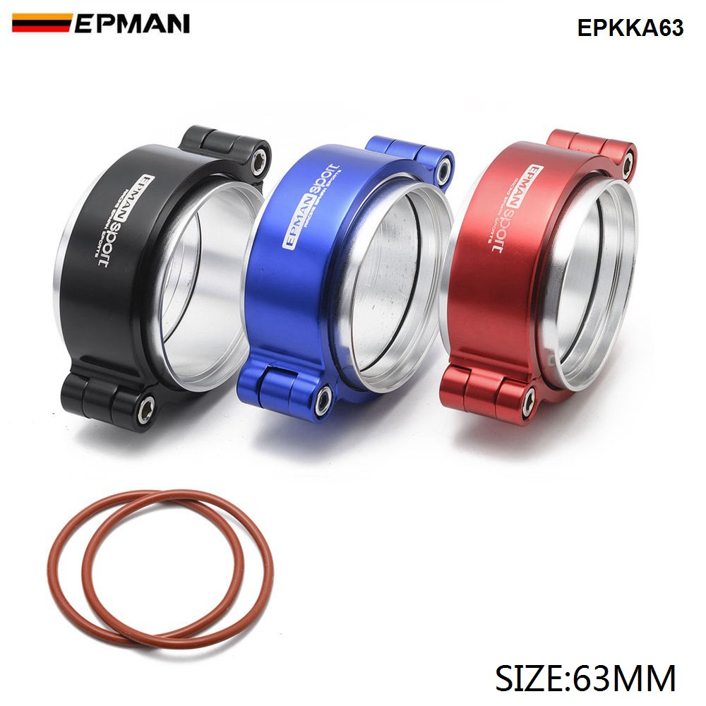 Epman HD Clamp System Assembly Exhaust V-band Clamp Anodized For 2.5
