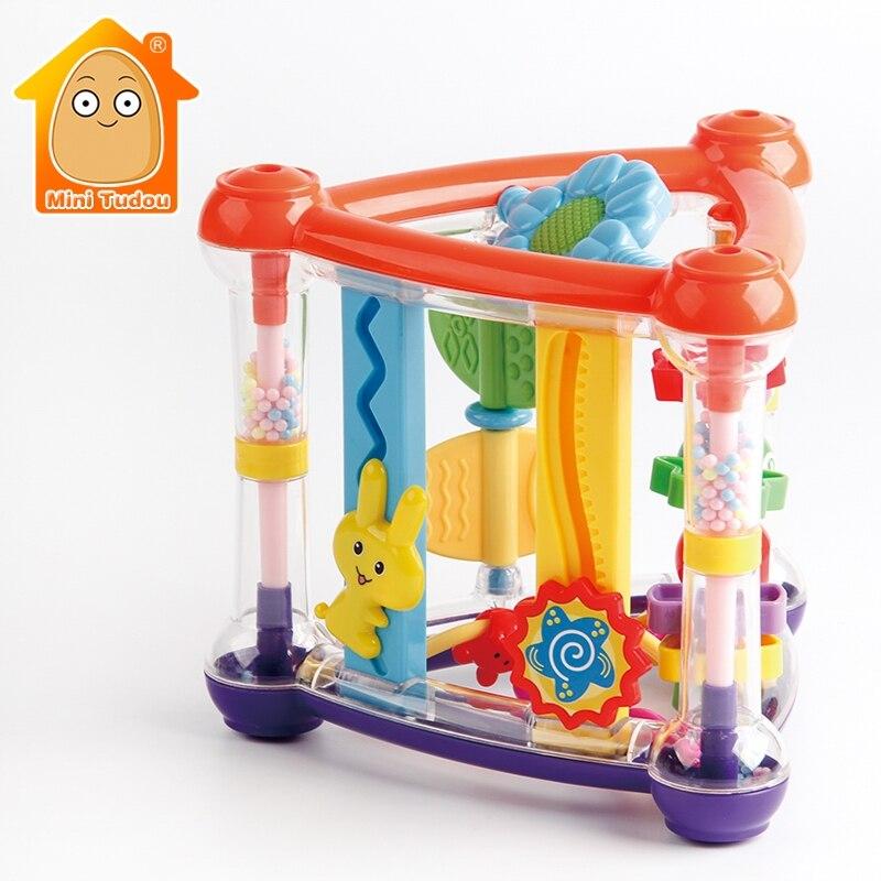 Jouets pour bébé 0-12 mois activité jeu Cube développement infantile jouets éducatifs suspendus nouveau-né hochet jouet nouveau-né garçon fille