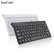 цена на Gaming Office Wired Keyboard 78 Keys Black Mini Slim Multimedia USB Wired External Keyboard For   Notebook Laptop PC Computer