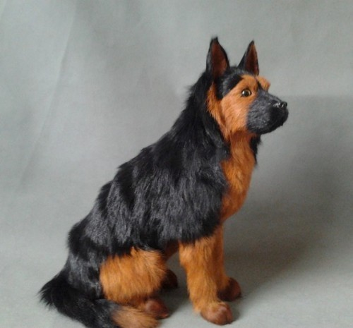 lovely simulation German shepherd dog toy lifelike sitting dog doll about 34x16x33cm