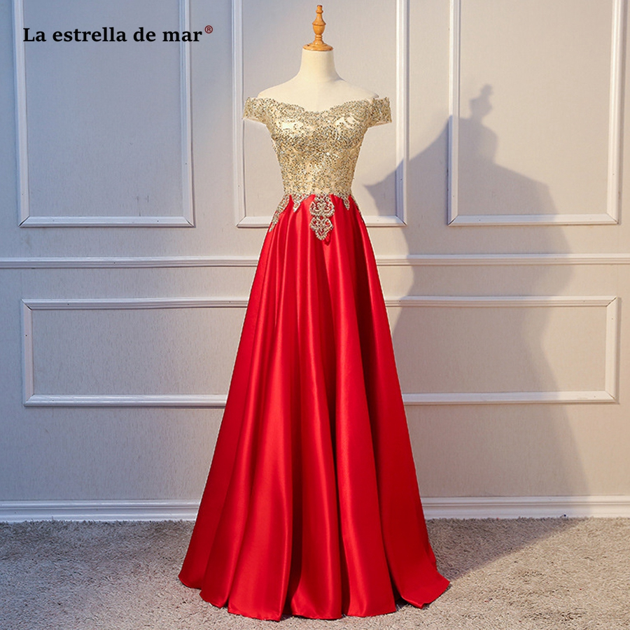 bruidsmeisjes jurk women new satin Boat Neck short sleeve A Line gold red dark green navy blue burgundy   bridesmaid     dresses   long