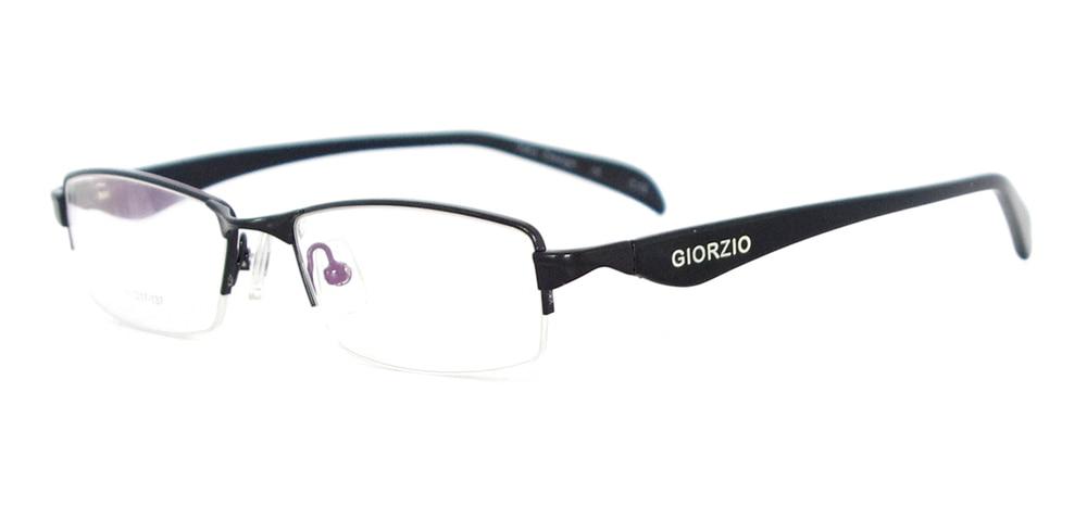 Мужская классическая оправа для очков прямоугольная металлическая полуоправа очки для рецептурных линз Близорукость прогрессивная - Цвет оправы: Черный