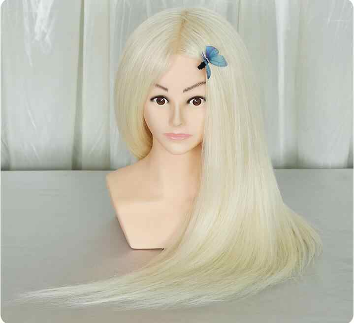 Professional training heads with shoulders 20% real human hairs can be curled practice Hairdressing mannequin dolls Styling