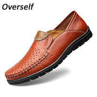 Summer Breathable Moccasins Mens Driving Shoes Italian Luxury Brand Men Loafers 2017 Genuine Leather Casual Shoes