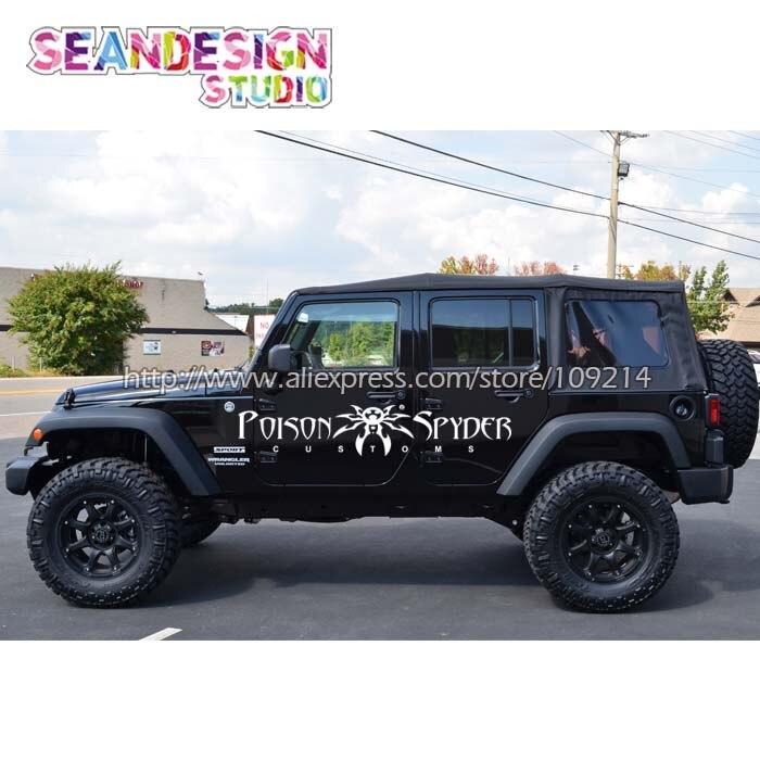 For Jeep Wrangler RUBICON Sahara Spyder 4X4 OFF ROAD SUV WHEEL Van Truck Decal Stickers Waterproof Z24 2 piece set locking hood look catch hood latches kit for jeep wrangler jk rubicon sahara unlimited 2007 2016