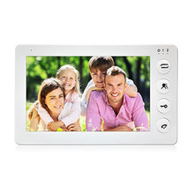 Dragonsview  White Video Intercom System Kit 7 Inch Door Monitor Video Door Phone Intercom 1200TVL Recording 16GB SD card Talk
