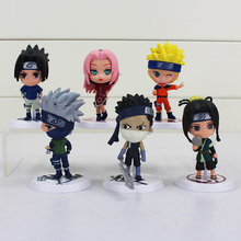 6Pcs Lot Japan Jump Naruto Action Figure Kakashi Sakura Sasuke Itachi Obito Gaara PVC Toys Model