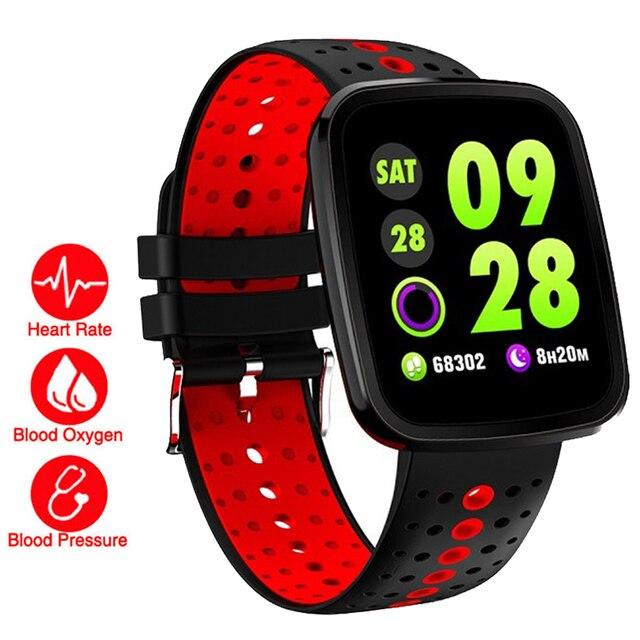 d4be25dc0dec € 41.36 |Vida Color Smart Fitness pulsera reloj ritmo cardíaco/presión  arterial/O2 Monitor Wristband para IOS Xiao mi PK mi banda 2/Fit Bit 3 en  ...
