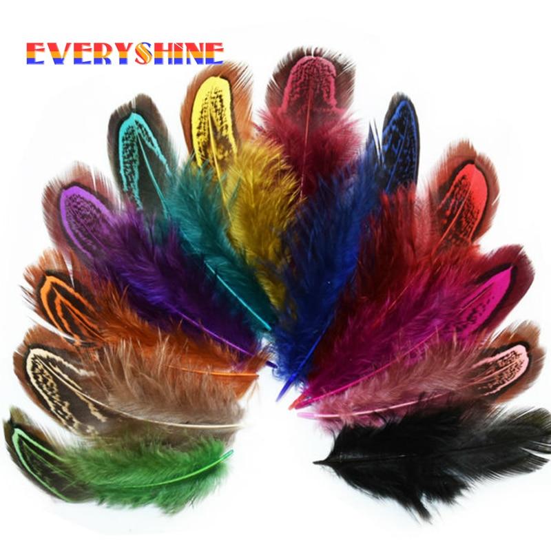 24 Pcs 4-6cm Rare Precious DIY Wedding Party Decorative Multi-colour Pheasant Plume Feather Natural Feathers For Home Decor IF12