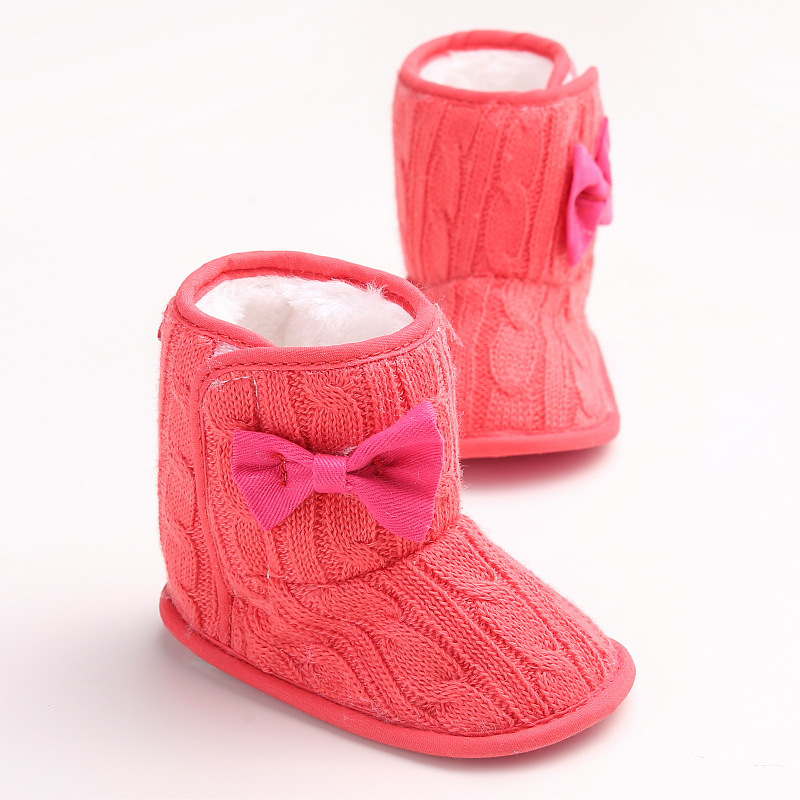 Cheap Nice Baby Girls Winter Boots Baby First Walkers Baby