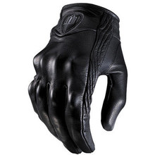 Touchscreen Leather Motorcycle Skidproof Full Finger Gloves Hard Knuckle Protective For Outdoor Sports Racing Motocross ATV цена