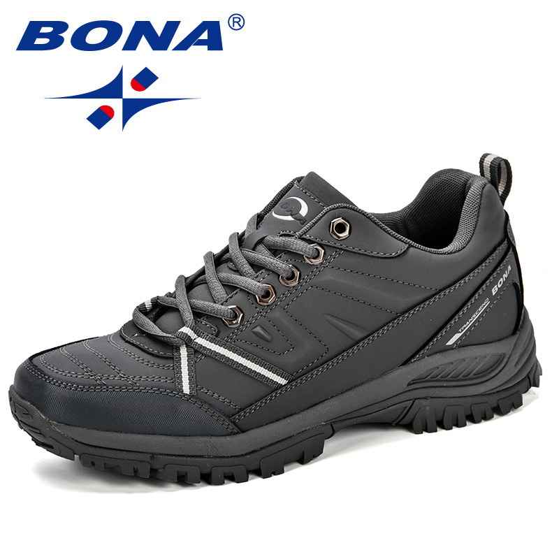 BONA  2018 New Mens Hiking Boots Krasovki Tactical Shoes Breathable Outdoor Comfortable Non Slip Hiking Shoes Men Mountain Shoes-in Hiking Shoes from Sports & Entertainment    2