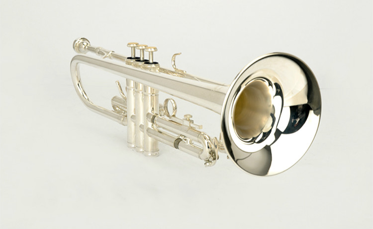 New Professional Silver Plated B Flat MIDWAY MTR-H7 Bb Trumpet Small Brass Senior High Quality Musical Instrument With Case professional silver gold plated marching french horn bb monel valves with case