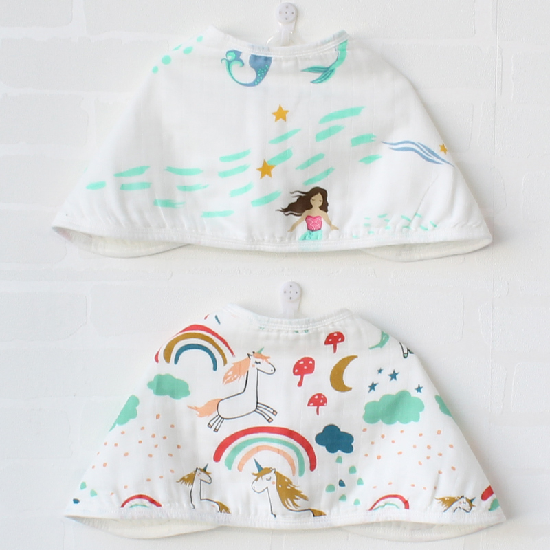 2 Pcs Baby Burp Cloths With Buckle Multifunction Soft Pure Cotton Muslin Boy Girl Bibs For Dinner Bandanas Bath Towel For Kids цена