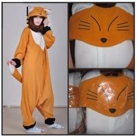 Cartoon Kigurumi Long Sleeve Hooded Animal Fox Onesie Women Winter Cute Homewear Onesies For Adults Warm Onsie