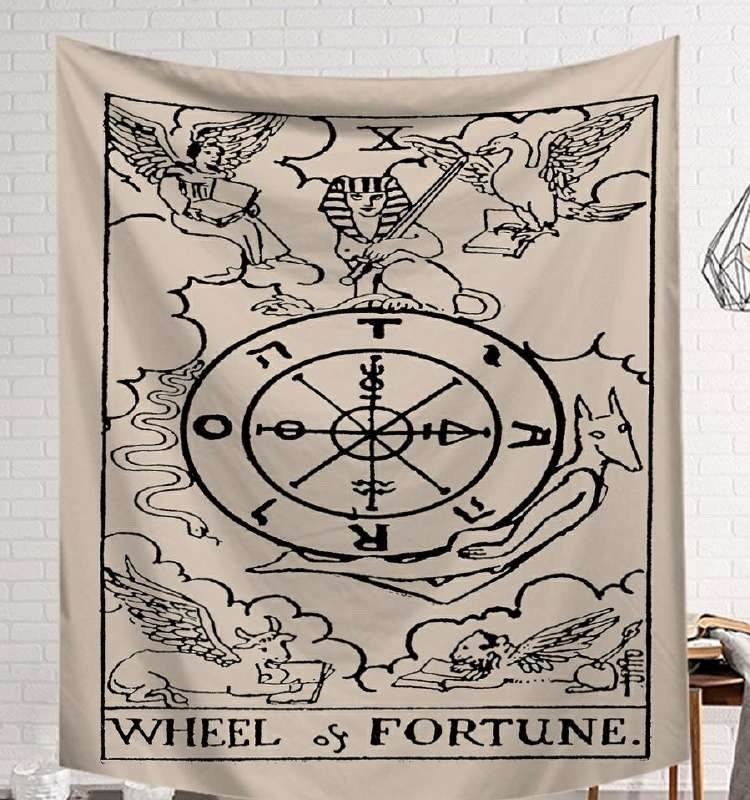 Image 5 - CAMMITEVER Power God Tapestry High Quality Fabric Wall Carpet Table Cloth Beach Cloth Dark Constellation Shawl/Blanket-in Tapestry from Home & Garden